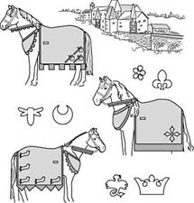 Suitability 9130 Medieval Horse Costume  (with Rump Cover) Sewing Pattern