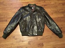 Vintage Members Only Iconic Racer Chocolate Brown Leather Jacket Coat Size 42