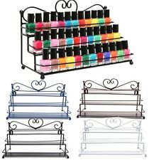 3 Tiers Alloy Nail Polish Display Organizer Rack Stand Cosmetic Makeup