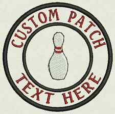 Bowling Custom Embroidered Name Tag, Patch, Badge Iron On or Sew On - 3.50""