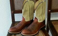 ■ WWW Western Boots, Herrenstiefel, Reitstiefel, braun/beige, Gr. 45 110 EE■