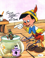 "DICKIE JONES & EDDIE CARROLL Signed ""Pinocchio""  Photo - JSA (James Spence) COA"