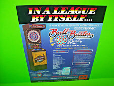 Merit BULL BUSTER Original 1985 Coin-Op Darts Arcade Game Promo Sales Flyer