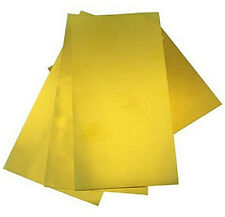 """K & S 258 Assorted Size Sheet Brass Shim .001"""",.002"""",.003"""",.005"""" Thickness 2nd1P"""