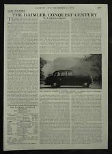 Daimler Conquest Century Review Spec Road Test 1955 1 Page Photo Article