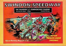 SWINDON ROBINS Speedway Programme THE SWINDON JT COMMERCIALS' CLASSIC Aug 1995