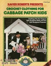 Cabbage Patch Kids CROCHET CLOTHING Vintage Patterns Book Xavier Roberts NEW