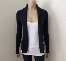 Hollister Womens Cardigan No Closure Sweater Size XS Navy Blue