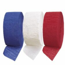 Red White Blue Crepe Streamers,British,French,American Garland Party Decorations