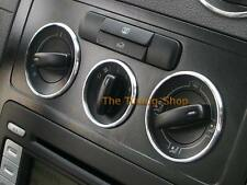 FOR VW CADDY 03-10 HEATER CONTROL SURROUNDS DASH CHROME TRIM RINGS