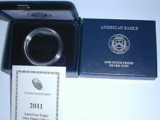 2011-W AMERICAN EAGLE ONE OUNCE PROOF SILVER COIN BOX (NO COIN)