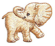 BABY ELEPHANT EMBROIDERED IRON ON APPLIQUE