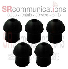 QTY 5 Replacement Black Rubber Eartips For Motorola HYT Kenwood Vertex Headsets