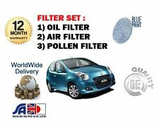 FOR SUZUKI ALTO 1.0i 3/2009-  NEW SERVICE KIT OIL AIR POLLEN FILTER SET