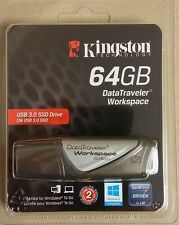 Kingston DataTraveler Workspace 64GB USB 3.0 SSD Flash Drive - CHEAPEST EVER