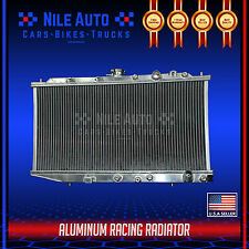 2 ROW RACING FULL ALUMINUM COOLING RADIATOR FOR 88-91 CIVIC/CRX/CR-X EF MT D15