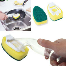 Kitchen Brush Cleaning Scrubber Washing Dish With Refill Liquid Soap Dispenser