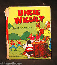 Vintage 1940 Uncle Wiggily Goes Camping by Howard R. Garis Whitman Publishing Co