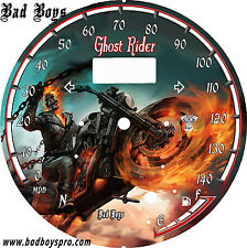yamaha Star Raider 1900 Custom Speedo Face Plate Ghost Rider 2  KM/H  & MPH