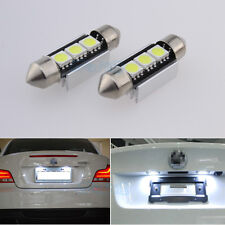 License Number Plate 3-LED White Light Bulbs Upgrade For Audi A4 S4 B8 TDI TSFI