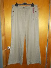 "M&S Per Una 'Roma' Wide Leg Tailored Trousers 16L L33"" Camel Mix BNWT"