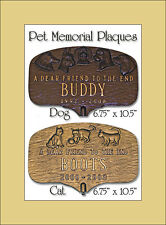 Montague Pet Memorial Plaques - Dog OR Cat - Wall OR Lawn Mount &  20 Colors!
