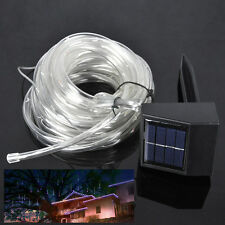 Solar Powered 33FT 100 LED RGB Light Strip Outdoor Strings Garden Rope Lighting