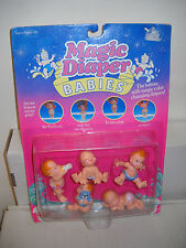 #7465 NRFC Vintage Galoob Magic Diaper Babies Figures