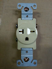 (1 pc) Single Receptacle 20 Amp 20A 250V AC Outlet 2 Pole 3 Wire Ivory