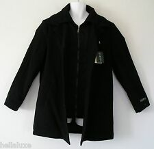 ~Ralph Lauren BIB LAYER WOOL COAT sweat shirt DUAL COLLAR Winter Jacket~Mens 42R