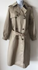 Women's GAP Classic Beige Belted Trenchcoat / Mac Size 6 To Fit 10/12