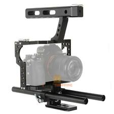 15mm Rod Rig DSLR Camera Video Cage Kit + Top Handle Grip for Sony A7/A7r/A7s