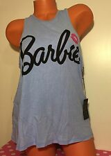 Forever 21 Barbie Logo Light Blue Tank Top Size Large NWT