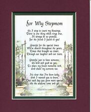 #13 Gift, Present, 50th 60th Birthday, Mothers Day for Stepmother Keepsake Poem