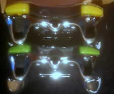 3 ITEM XCM Wireless Controller Xbox360 CHROME 2 Green 1 Yellow LED  SHELLs ONLY