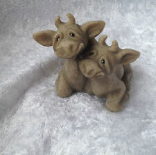 Quarry Critters Cherry and Chip...Cow Figurine..BNIB