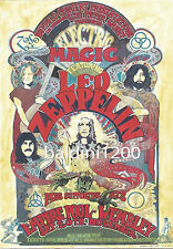 LED ZEPPELIN - HIGH QUALITY VINTAGE CONCERT POSTER - LOOKS AWESOME FRAMED