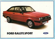 Ford Escort Mk2 RS 2000 & Custom 1978-80 UK Market Sales Brochure