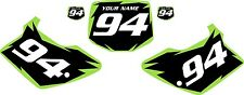 1994-1998 Kawasaki KX125 Custom Pre-Printed Black Backgrounds Green Shock Series