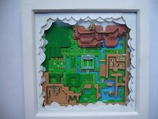 Legend of Zelda Hyrule 3D Map Diorama Limited Edition Art Snes Super Nintendo
