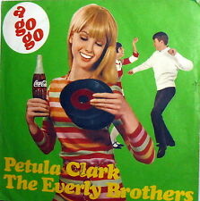 """PROMO COCA COLA THE EVERLY BROTHERS 7"""" ITALY  PETULA CLARK THINGS GO BETTER WITH"""