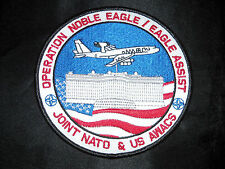 USAF NATO AIRBORNE EARLY WARNING AWACS E-3A OPERATION NOBLE EAGLE ASSIST PATCH