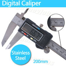 200mm 8inch LCD Digital Vernier Caliper Electronic Gauge Micrometer Free Case UK