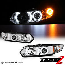 2006-2011 Honda Civic Coupe FG Chrome TRON STYLE Halo CCFL Projector Headlights
