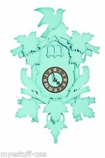 Flew The Coop No Cuckoo Cuckoo Clock Aqua 18 in. by FunDeco