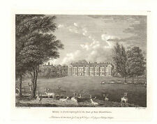 the seats of nobility & gentry 1787 -1815 engraving - milton - northamptonshire