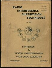 Cold War Signal Corps Guide RADIO INTERFERENCE SUPPRESSION TECHNIQUES Coles Lab