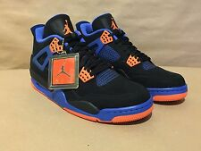 "308497-027 Air Jordan 4 Retro Blk/Safety Orange-Royal ""CAVS"" 10.5 2012 Release"