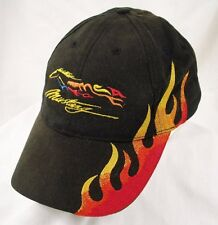 Mustang Club of America Black Flames Baseball Hat Cap GUC Box Shipped