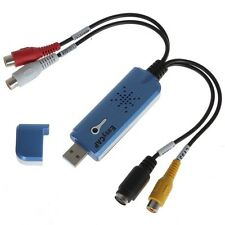 Usb 2.0 Easy Cap Dvr Cctv Video Captura De Audio Grabador de tarjeta de adaptador de vendedor de Reino Unido